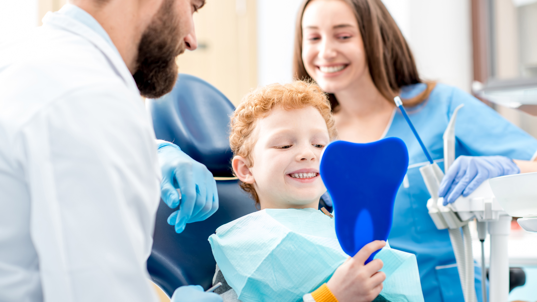 photo of children's dentistry being performed